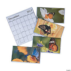 2017 - 2018 Butterfly Pocket Calendars