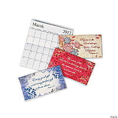 2017 - 2018 Scripture Pocket Calendars