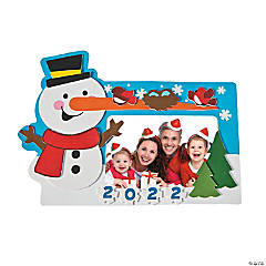 2017 Snowman Picture Frame Magnet Craft Kit