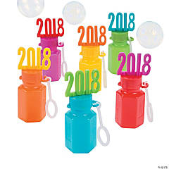 2018 Bright Graduation Bubble Bottles