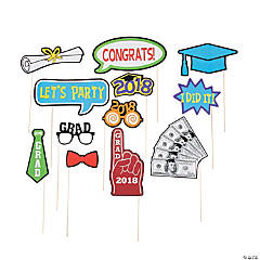 2018 Graduation Photo Stick Props