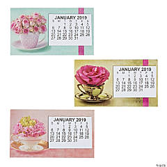 2019 Large Print Flowers Calendar Magnets