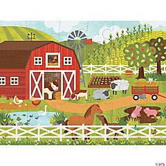 24-piece Floor Puzzle: On The Farm
