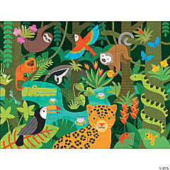 24-piece Floor Puzzle: Wild Rainforest