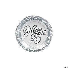 25th Anniversary Paper Dessert Plates