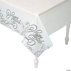25th Anniversary Plastic Tablecloth