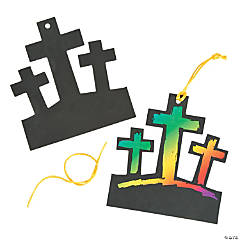 3 Crosses Magic Color Scratch Ornaments