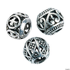 3 Design Large Hole Beads - 11mm