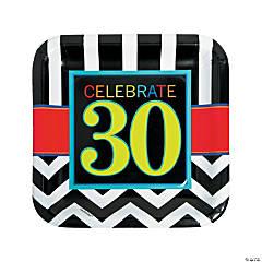 30th Birthday Celebration Paper Dinner Plates