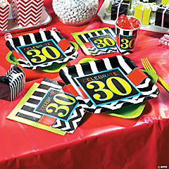 30th Birthday Celebration Party Supplies