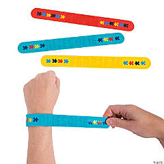 3D Autism Awareness Slap Bracelets