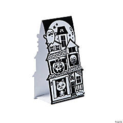 3D Color Your Own Fuzzy Haunted House Stand-Ups