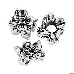 3D Flower Large Hole Beads - 10mm