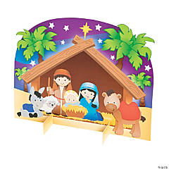 3D Nativity Stable Sticker Scenes