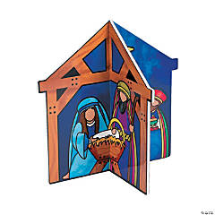 3D Nativity Tabletop Stand-Up