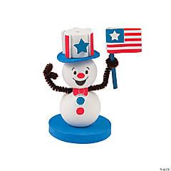 3D Patriotic Snowman Craft Kit