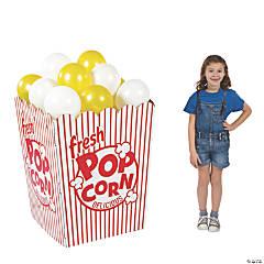 3D Popcorn Box Cardboard Stand-Up