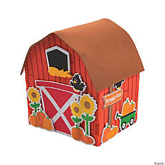 3D Pumpkin Patch Barn Craft Kit