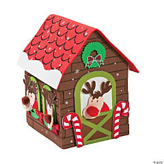 3D Reindeer Stable Craft Kit