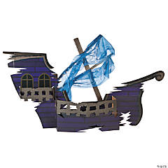 3D Sunken Ship Cardboard Stand-Up