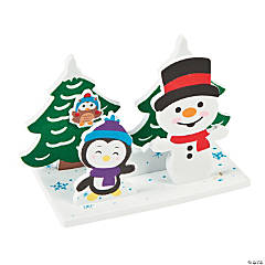 3D Winter Snowman Craft Kit