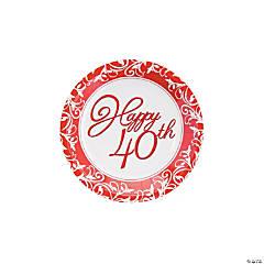 40th Anniversary Dessert Plates