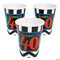 40th Birthday Celebration Cups