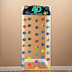 40th Birthday Party Continues Foil Door Curtain
