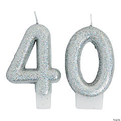 40th Birthday Sparking Celebration Candle