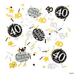 40th Birthday Sparkling Celebration Confetti