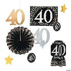40th Birthday Sparkling Celebration Decorating Kit