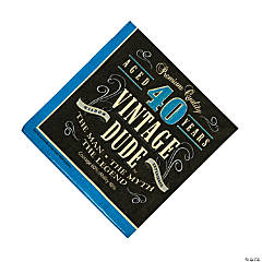 40th Vintage Dude Luncheon Napkins