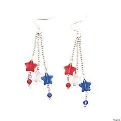 4th Of July Star Earrings Idea