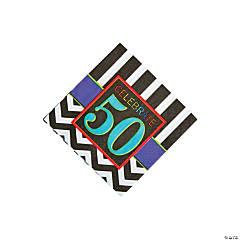 50th Birthday Celebration Beverage Napkins