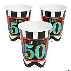 50th Birthday Celebration Cups