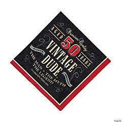 50th Birthday Vintage Dude Luncheon Napkins