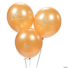 50th Wedding Anniversary Latex Balloons