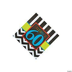 60th Birthday Celebration Beverage Napkins