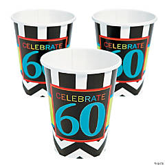 60th Birthday Celebration Cups