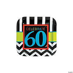 60th Birthday Celebration Paper Dessert Plates