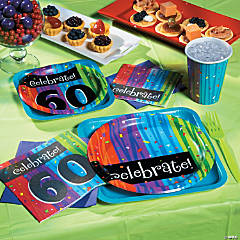 60th Birthday Milestone Celebration Party Supplies