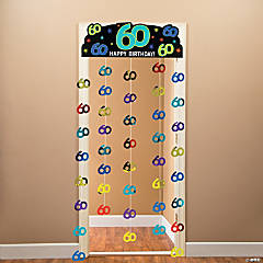 60th Birthday Party Continues Foil Door Curtain