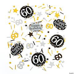 60th Birthday Sparkling Celebration Confetti