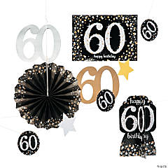 60th Birthday Sparkling Celebration Decorating Kit