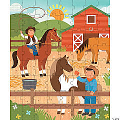 64-Piece Tin Canister Puzzle: At the Ranch
