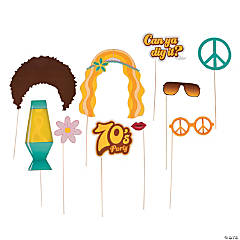 70s Party Photo Stick Props