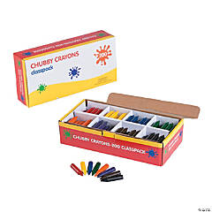 8-Color Chubby Crayon Classpack