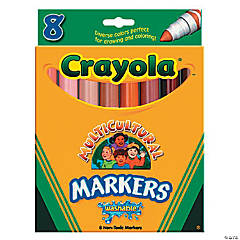 8-Color Crayola® Multicultural Markers