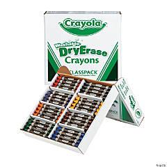 8-Color Crayola® Washable Dry Erase Crayons Classpack