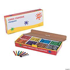 8-Color Large Crayon Classpack